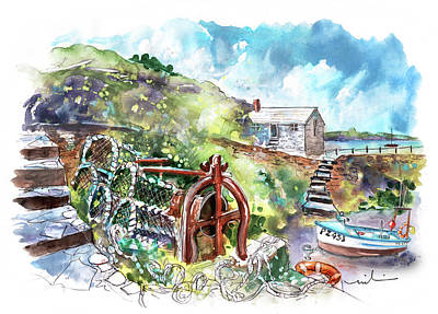 Painting - Church Cove On Lizard Peninsula 03 by Miki De Goodaboom