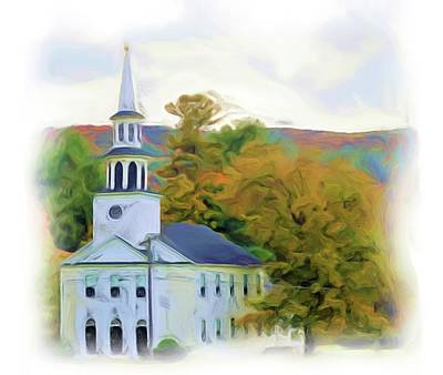 Digital Art - Church Digital Painting by Charles HALL