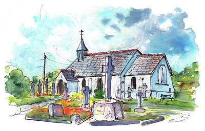 Painting - Church In Coverack On Lizard Peninsula by Miki De Goodaboom