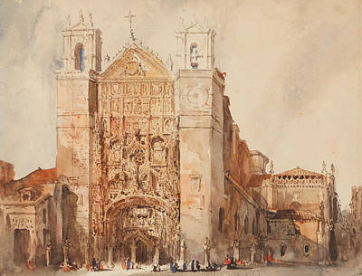 Drawing - Church Of Saint Paul, Valladolid by Jenaro Perez Villaamil