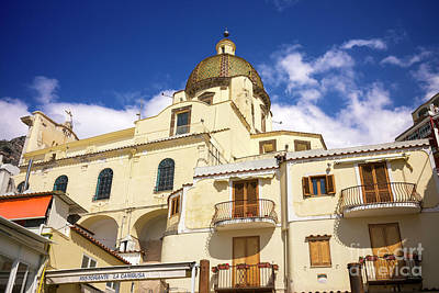 Photograph - Church Of Santa Maria Assunta Dome In Positano by John Rizzuto