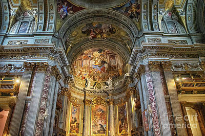 Antlers - Church of St. Ignatius of Loyola at Campus Martius Rome Italy Interior by Wayne Moran