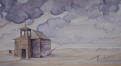 Painting - Schoolhouse On The Hi Line by Scott Kirby