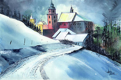 Painting - Church Road by Anil Nene
