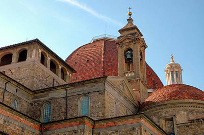 Photograph - Church Roof In Florence by Mark Duehmig