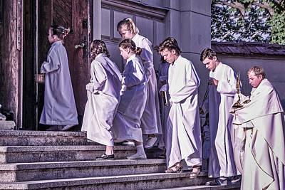 Photograph - Church Youth Procession - Romania by Stuart Litoff