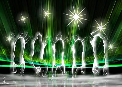 Abenaki Wall Art - Digital Art - Churchill Choir by Carmen Hathaway