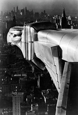 Architecture Photograph - Chysler Building Gargoyle.  Photo By Ma by Margaret Bourke-white