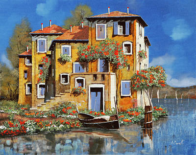 Automotive Paintings Royalty Free Images - Cieloblu-muri Gialli Royalty-Free Image by Guido Borelli