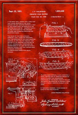 Digital Art - Cigar Wrapper Patent Drawing by Carlos Diaz