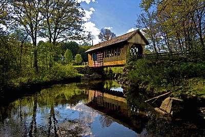 Photograph - Cilleyville Bog Bridge by Paul Mangold