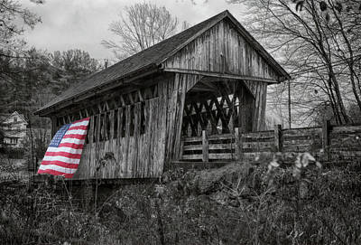 Photograph - Cilleyville Bog Covered Bridge by Jeff Folger
