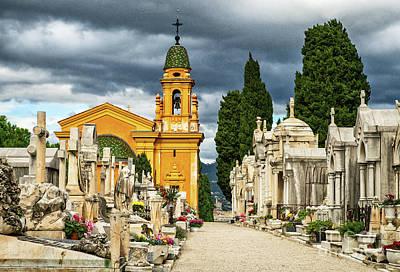 Photograph - Cimitiere Du Chateau Castle Cemetery Nice France by Wayne Moran