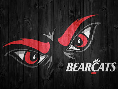 Mixed Media - Cincinnati Bearcats Barn Door by Dan Sproul