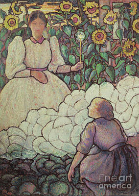 Painting - Cinderella And Her Fairy Godmother, 1892 by Lucien Pissarro