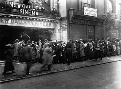 Cinema Crowd Art Print by A. R. Coster