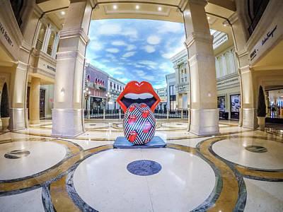 Photograph - Circa 2017 The Venetian Palazzo Hotell In Las Vegas Nevada by Alex Grichenko