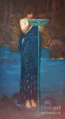 Queen Rights Managed Images - circle Invidiosa 1892 John william Waterhouse Royalty-Free Image by Win Naing