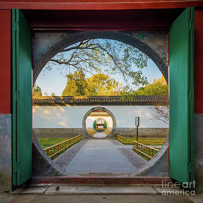 Photograph - Circular Gates by Inge Johnsson