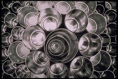 Photograph - Circular Patterns Of Tin Cans by Alfred Gescheidt
