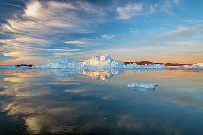Photograph - Cirrus Over Ice by Michael Blanchette