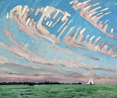 Painting - Cirrus Sky Stories by Phil Chadwick