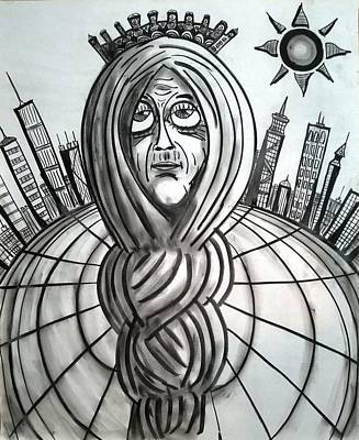 Wall Art - Drawing - Citifair by William Erickson