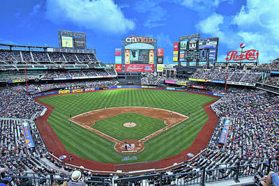 Photograph - Citifield - Home Of The N Y Mets by Allen Beatty