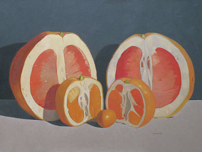 Painting - Citrus Family by John Holdway