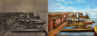 Photograph - City - Alexandria Va - A View From Pioneer Mill 1865 - Side By S by Mike Savad