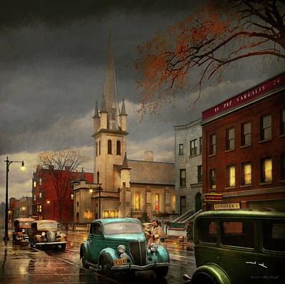 Photograph - City - Amsterdam Ny - Evening Prayers 1941 by Mike Savad