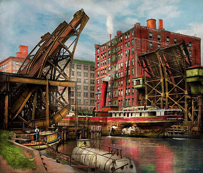 Photograph - City - Chicago Il - Jacked Up 1907 by Mike Savad
