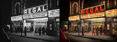 Photograph - City - Chicago Il - Nightlife At The Regal Theater 1941 - Side By Side by Mike Savad