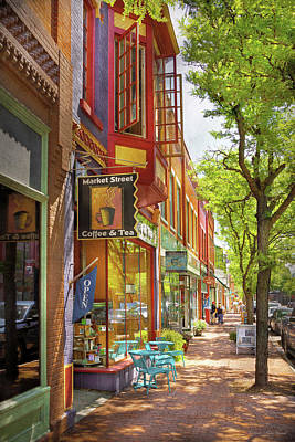 Photograph - City - Corning Ny - Market Street Coffee And Tea by Mike Savad