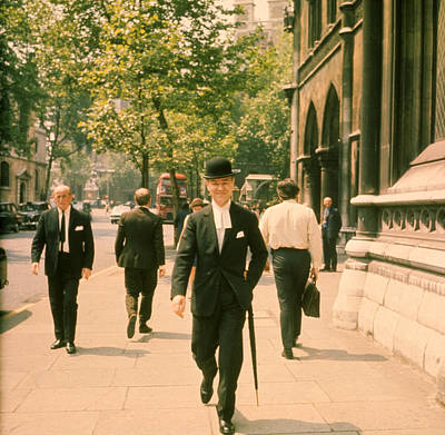 Photograph - City Gents by Evening Standard
