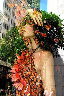 Digital Art - City Goddess 1 by Lisa Yount