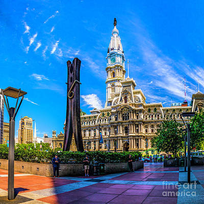 Photograph - City Hall And The Clothespin by Nick Zelinsky