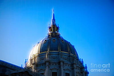 Photograph - City Hall Exterior Dome San Francisco Ca by Chuck Kuhn