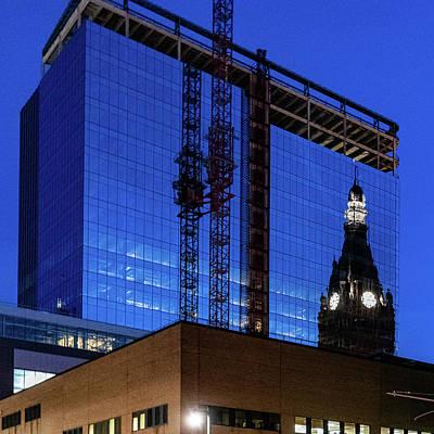 Photograph - City Hall Reflection by Randy Scherkenbach