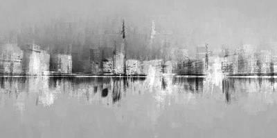 Digital Art - City In Black by David Manlove