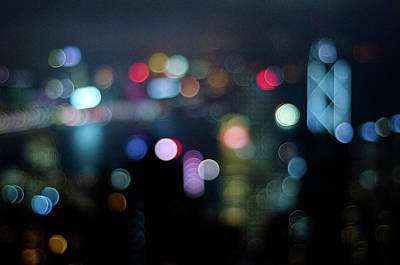Cityscapes Photograph - City Lights Bokeh by Megan Ahrens