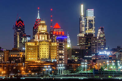Photograph - City Lights - Philadelphia by Bill Cannon