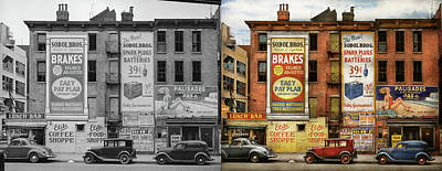 Photograph - City - New York Ny - Elite Lunch Bar 1938 - Side By Side by Mike Savad