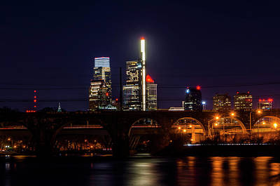 Photograph - City Nightscape - Philadelphia From The Schuylkill River by Bill Cannon
