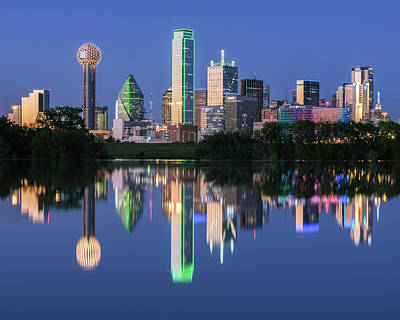 Robert Bellomy Royalty-Free and Rights-Managed Images - City of Dallas, Texas Reflection by Robert Bellomy