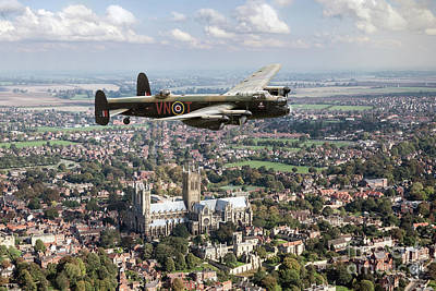 Photograph - City Of Lincoln Vn-t Over The City Of Lincoln by Gary Eason