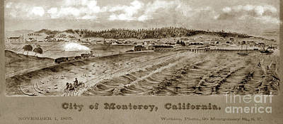 Photograph - City Of Monterey, California. November First, 1875.  Copy Of Pai by California Views Archives Mr Pat Hathaway Archives
