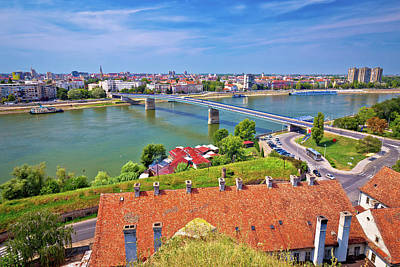 Abstract Graphics - City Of Novi Sad and Danube river aerial view from Petrovaradin by Brch Photography