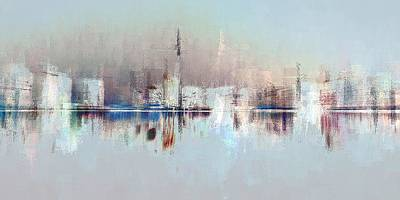 Digital Art - City Of Pastels by David Manlove