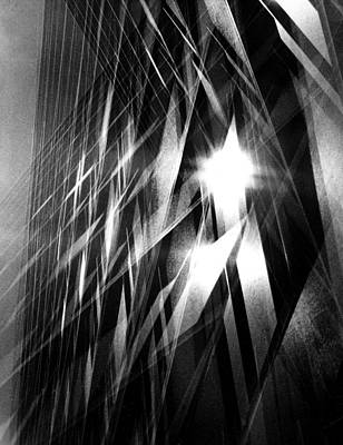 Sunlight Photograph - City Office Building Abstract by Spencer Grant